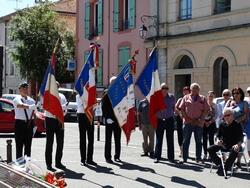 Porte-drapeaux à la cérémonie 2019 d'hommage aux Morts en Indochine