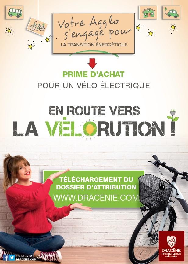 Affiche prime d'achat pour un vélo électrique