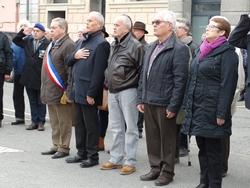 Les élus municipaux lors de la cérémonie du 5 décembre 2019