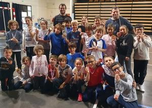 Photo de groupe des médaillés