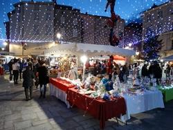 Stands au marché de Noël