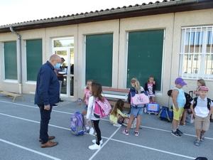 M. le Maire rencontre les enfants