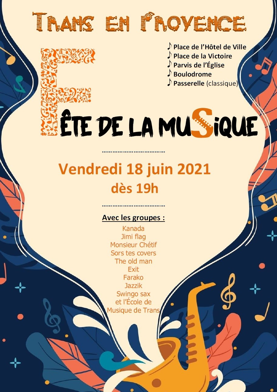 Fête de la musique à Trans en Provence