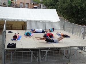 Démonstration de la gymnastique volontaire