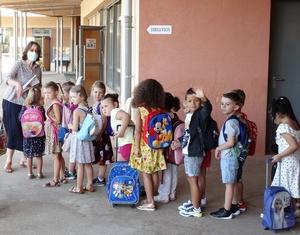 Rentrée des enfants de la maternelle