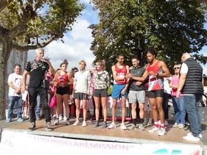 Les vainqueurs de la course de 10 km